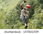 zip line adventure in... | Shutterstock . vector #157831559