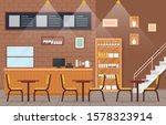 modern cafe coffee shop... | Shutterstock .eps vector #1578323914