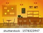 modern cafe coffee shop... | Shutterstock .eps vector #1578323947