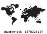 world map illustration isolated ... | Shutterstock .eps vector #1578326134