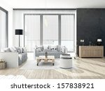 black and white colored living... | Shutterstock . vector #157838921