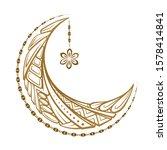 golden cresent moon temporary...   Shutterstock .eps vector #1578414841