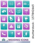 set of white icons for wedding... | Shutterstock .eps vector #157842665