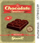 vintage chocolate  poster design | Shutterstock .eps vector #157843139