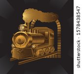 Vintage Transport Train Of Gold ...