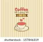 cute background for coffee | Shutterstock .eps vector #157846319