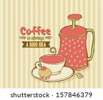 cute background for coffee | Shutterstock .eps vector #157846379