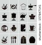 kitchen tools  icons | Shutterstock .eps vector #157847141