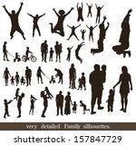 set of very detailed family... | Shutterstock . vector #157847729
