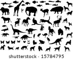 big collection of animals... | Shutterstock . vector #15784795