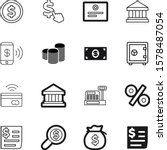 money vector icon set such as ...