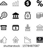 money vector icon set such as ... | Shutterstock .eps vector #1578487087