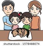 family mourning of older dog...   Shutterstock .eps vector #1578488074