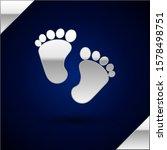 Silver Baby Footprints Icon...