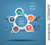 round white infographic...   Shutterstock .eps vector #157856624