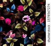 seamless floral pattern. leaf... | Shutterstock .eps vector #1578567274