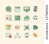 seo   database icon set | Shutterstock .eps vector #157860401