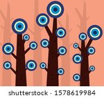 turkish amulet in the trees... | Shutterstock .eps vector #1578619984