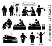 slimming center fat overweight... | Shutterstock .eps vector #157862675