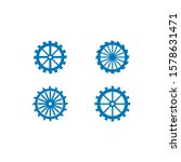 Water Mill Logo Vector Icon...