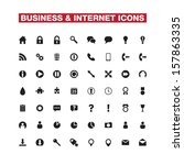 business and internet vector... | Shutterstock .eps vector #157863335