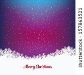 colorful winter snowy background   Shutterstock .eps vector #157863521