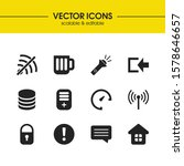 ui icons set with router  log...