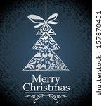 christmas design elements  ... | Shutterstock .eps vector #157870451