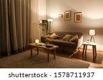 Stylish Interior Of Living Room ...