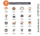 strategy concept icons vector... | Shutterstock .eps vector #157871921