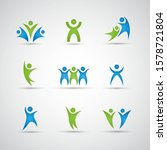 abstract people logo set. human ... | Shutterstock .eps vector #1578721804