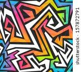 spectrum color graffiti... | Shutterstock .eps vector #157872791