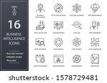 set of business intelligence... | Shutterstock .eps vector #1578729481