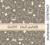 vector halloween seamless... | Shutterstock .eps vector #157874417