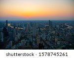 bangkok city skyline twilight... | Shutterstock . vector #1578745261