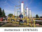 operator in natural gas... | Shutterstock . vector #157876331