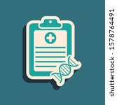 green clipboard with dna... | Shutterstock . vector #1578764491