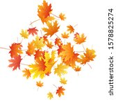 maple leaves vector background  ... | Shutterstock .eps vector #1578825274