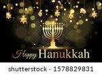 Hanukkah Greeting Card On A...