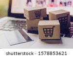 Online shopping   paper cartons ...