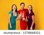 Ladies Party Concept. Three...