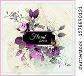 floral design. illustration of... | Shutterstock .eps vector #1578890131