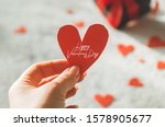 Valentine's Day Postcard. Love...