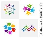 set of community logo design... | Shutterstock .eps vector #1578917191
