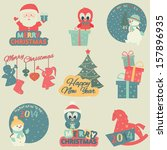 christmas and new year elements.... | Shutterstock .eps vector #157896935