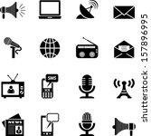 media icons | Shutterstock .eps vector #157896995