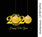 happy new year 2020 with... | Shutterstock .eps vector #1578976954