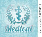 medical icon over pattern... | Shutterstock .eps vector #157900319
