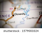 Small photo of Dowdy. Arkansas. USA on a geography map