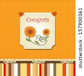 congrats card with stripes on... | Shutterstock .eps vector #157900361